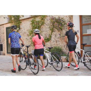 Kurze Radhose Rennrad 500 Damen schwarz/rosa