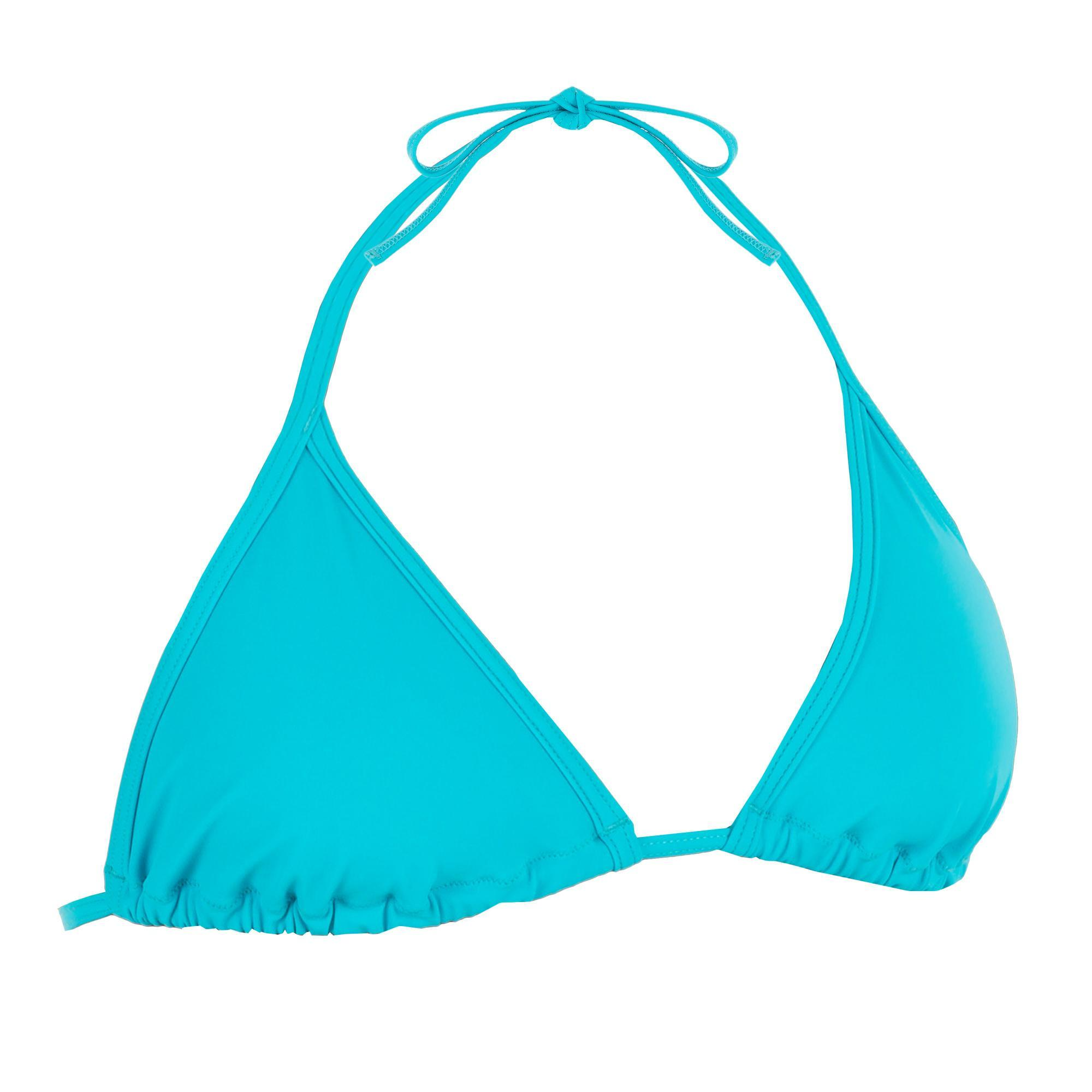 Haut de maillot de bain femme triangle coulissant mae turquoise olaian
