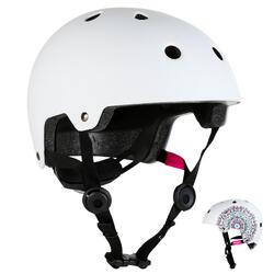 Play 7 Inline Skating Skateboarding Scootering Helmet - White Mandala