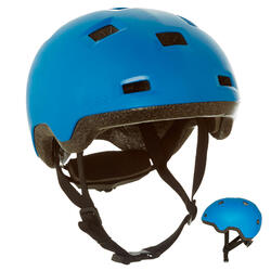 Casco júnior roller skateboard patinete B100 azul
