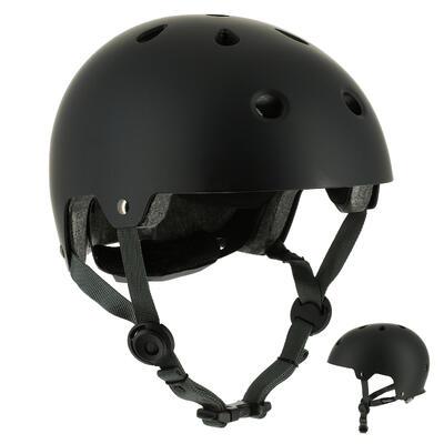 Casco de patinaje skateboard monopatín bicicleta PLAY 5 negro