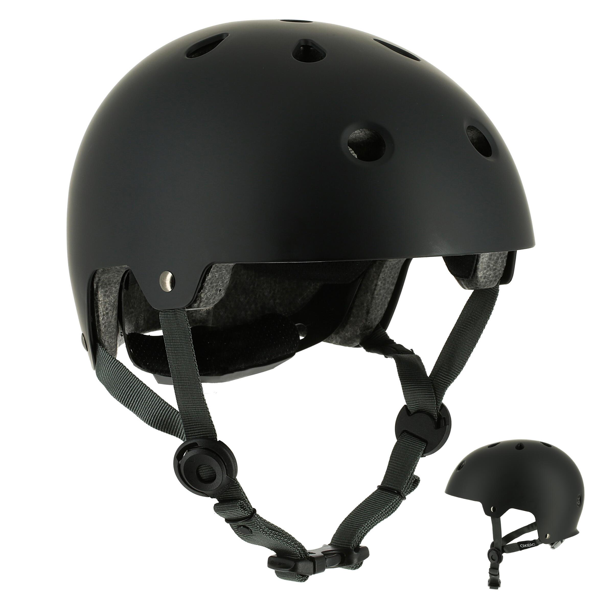 Casco para patines, patineta, patín del diablo y bicicleta PLAY 5 negro