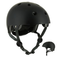 Play 5 Skateboard, Scooter, Skating Helmet - Black