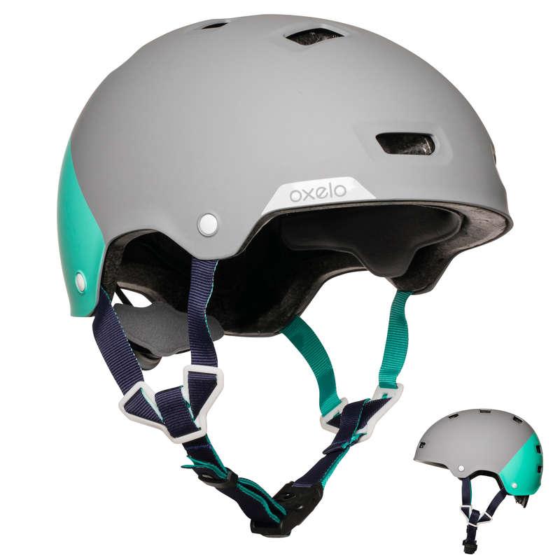HELMET INLINE SKATE/SKATE/SCOOTER Inlines, Skateboard - Hjälm MF540 peppermint grå OXELO - Inlines, utrustning