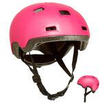Kids' Roller Skates, Skateboard, and Scooter Helmet B100 - Pink