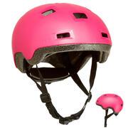 Rožnata čelada za rolanje, rolkanje, vožnjo s skirojem B100