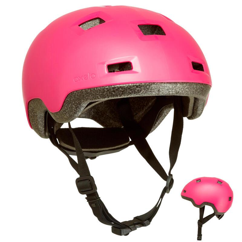 Dětská helma na in-line brusle a skate B100 růžová