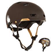 Casco para roller skateboard patinete MF540 BAD DAYS marrón