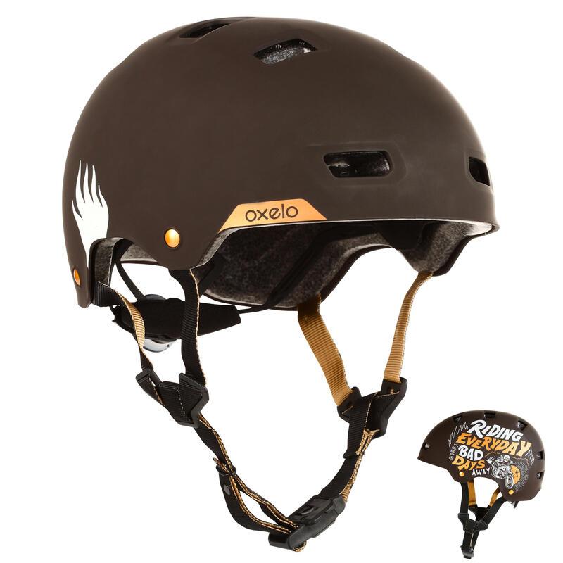 Helm voor inlineskaten skateboarden steppen MF540 Bad Days zwart