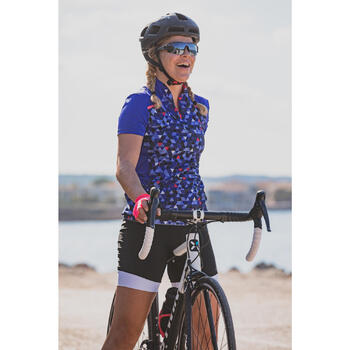 MAILLOT VELO MANCHES COURTE FEMME 500 - 1303021