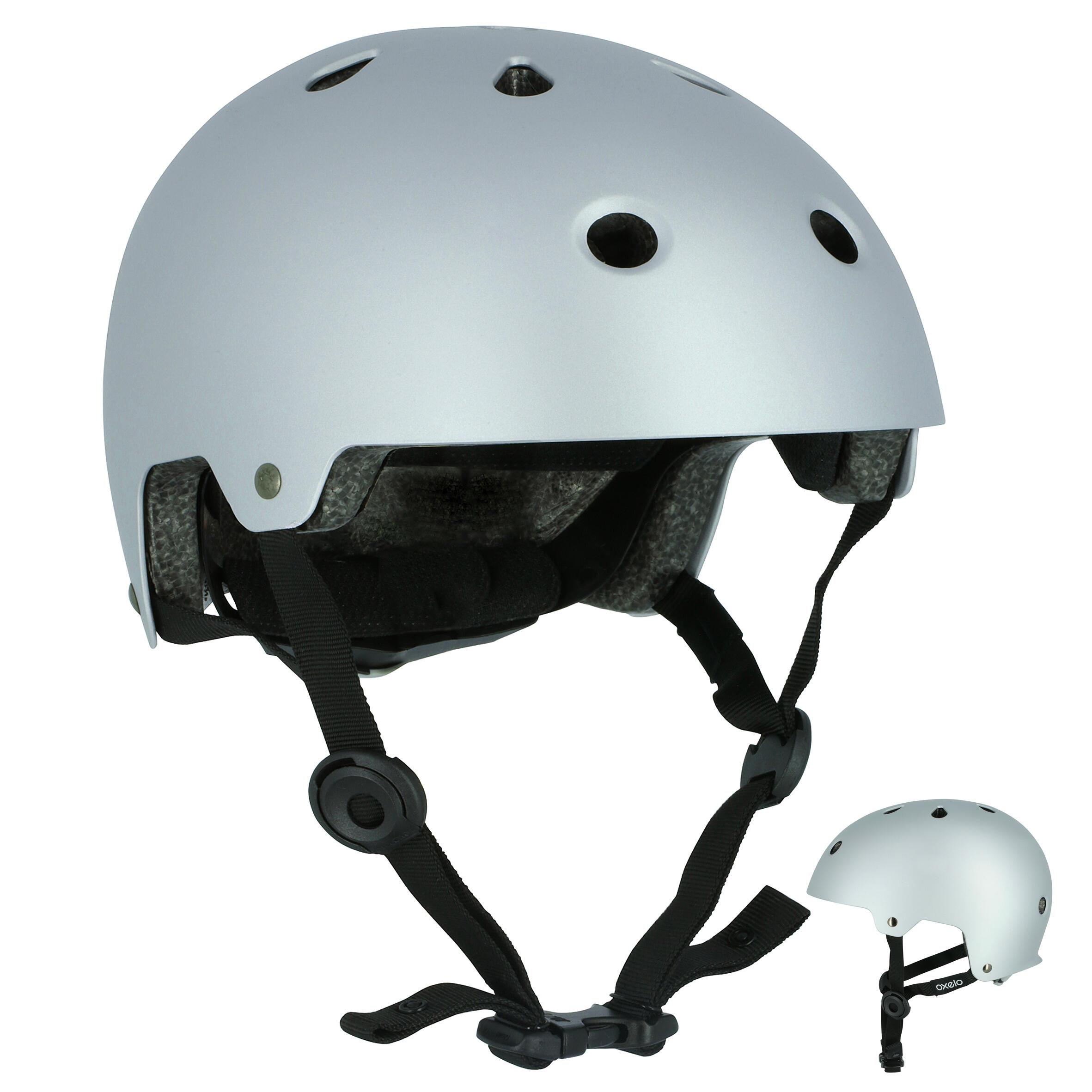 Casco para patines patineta patín del diablo bicicleta PLAY 5 gris