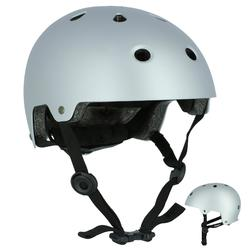 Helm voor skeeleren, skateboarden, steppen Play 5 grijs