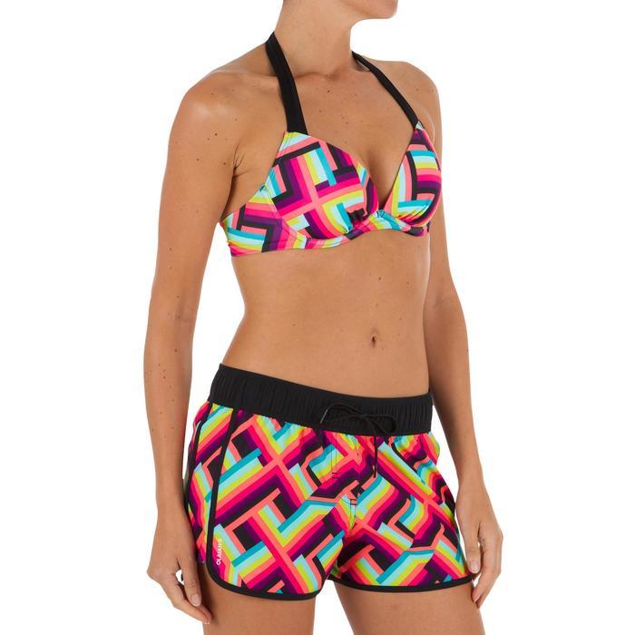 Boardshort femme TINI POP avec ceinture élastiquée et cordon de serrage