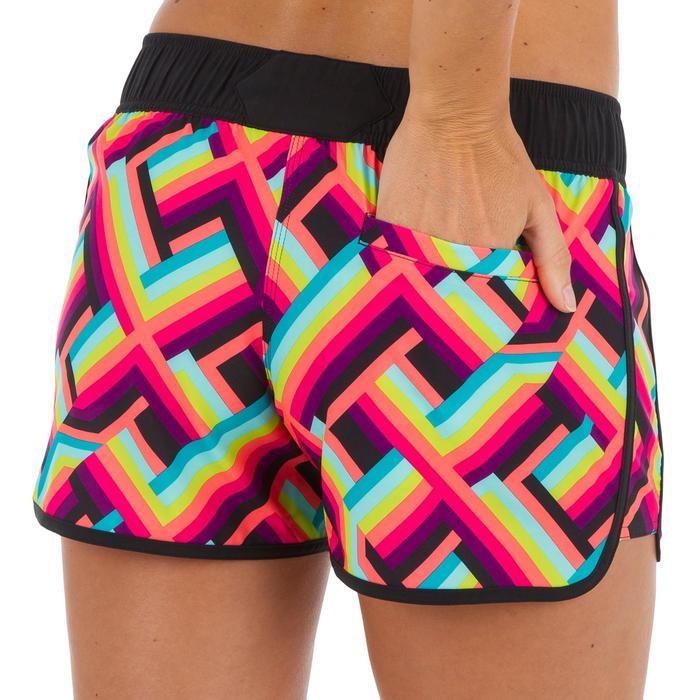 Boardshort mujer TINI POP con cintura elástica y cordón de ajuste