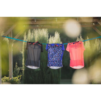 MAILLOT VELO MANCHES COURTE FEMME 500 - 1303285