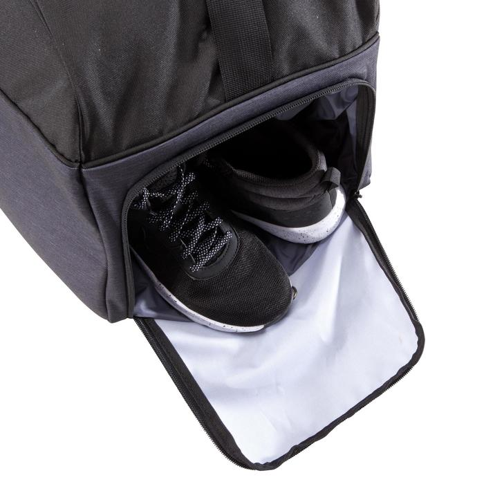 Cardiofitness tas 57 liter zwart en grijs