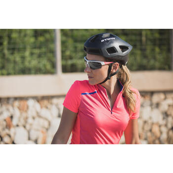 MAILLOT VELO MANCHES COURTE FEMME 500 - 1303370