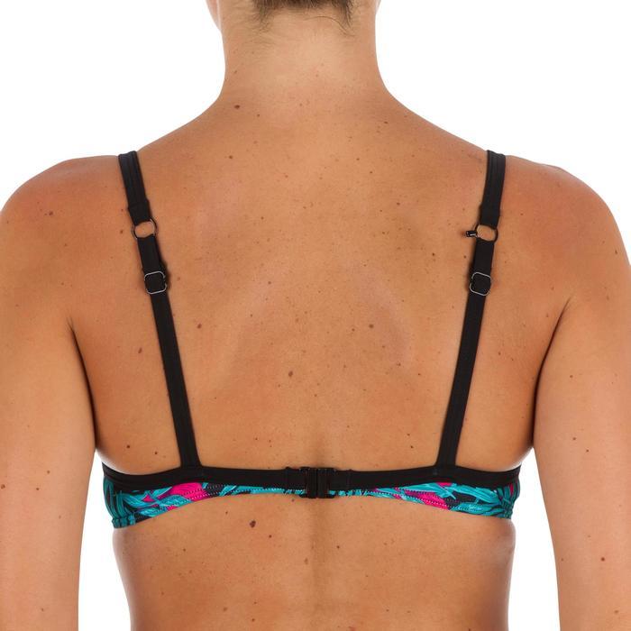 Sujetador bikini mujer BALCONET ESCOTADO ELO BALI NEGRO con espalda en U o X