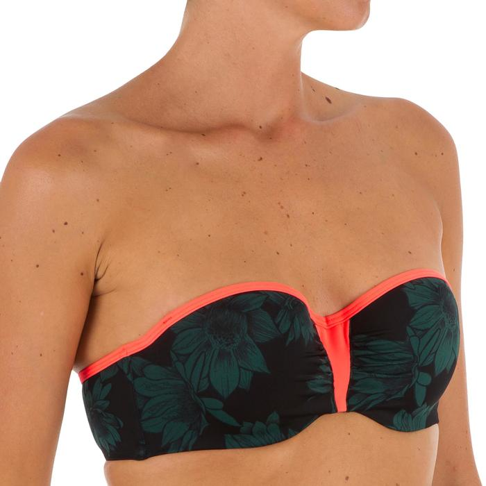 Haut de maillot de bain femme bandeau avec coques et armatures LEA BALI - 1303519