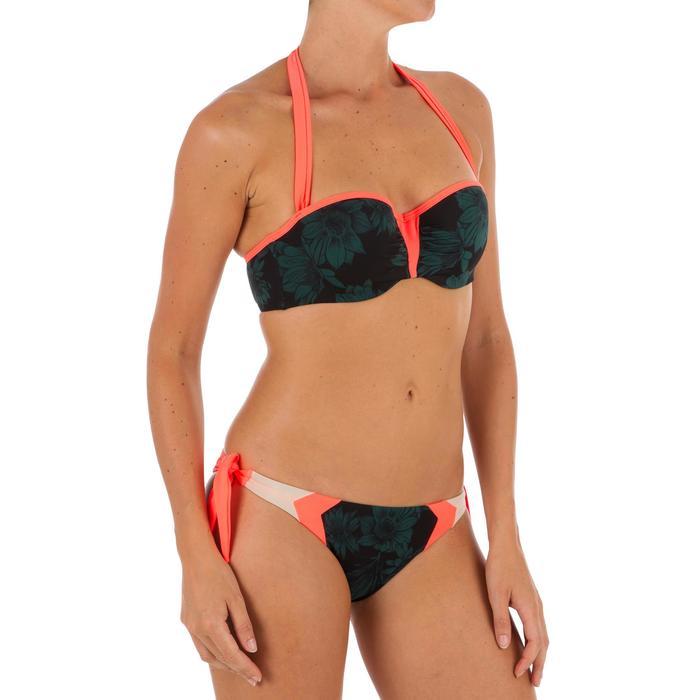 Bas de maillot de bain de surf femme échancrée et nouée côtés SABI COLORB - 1303521