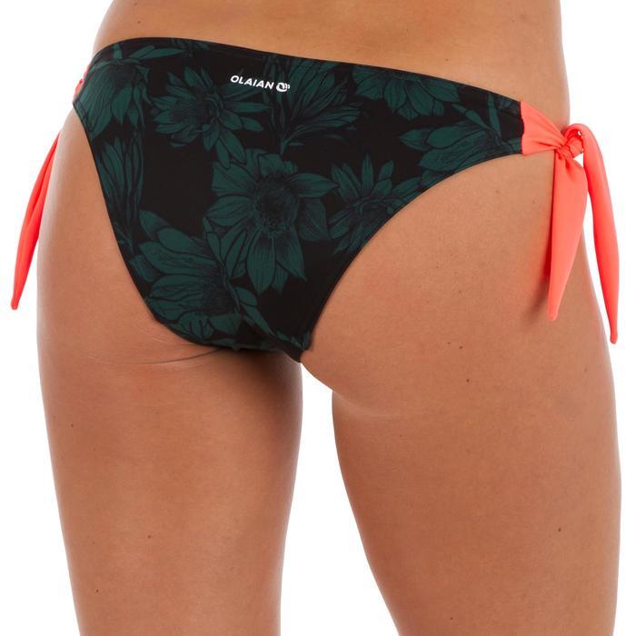 Bas de maillot de bain de surf femme échancrée et nouée côtés SABI COLORB - 1303559