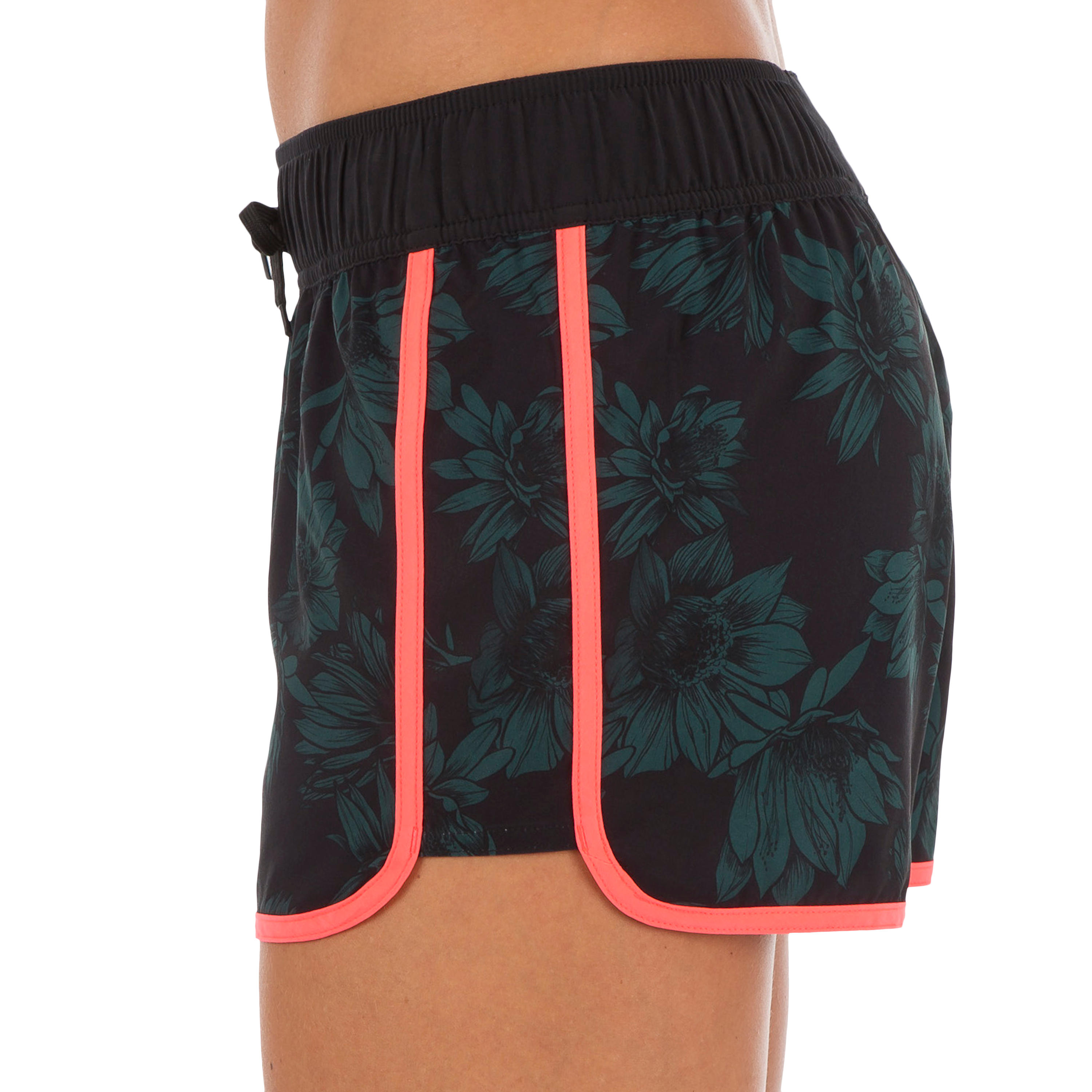 Tini Women's Boardshorts with Elasticated Waistband and Drawstring - Terra