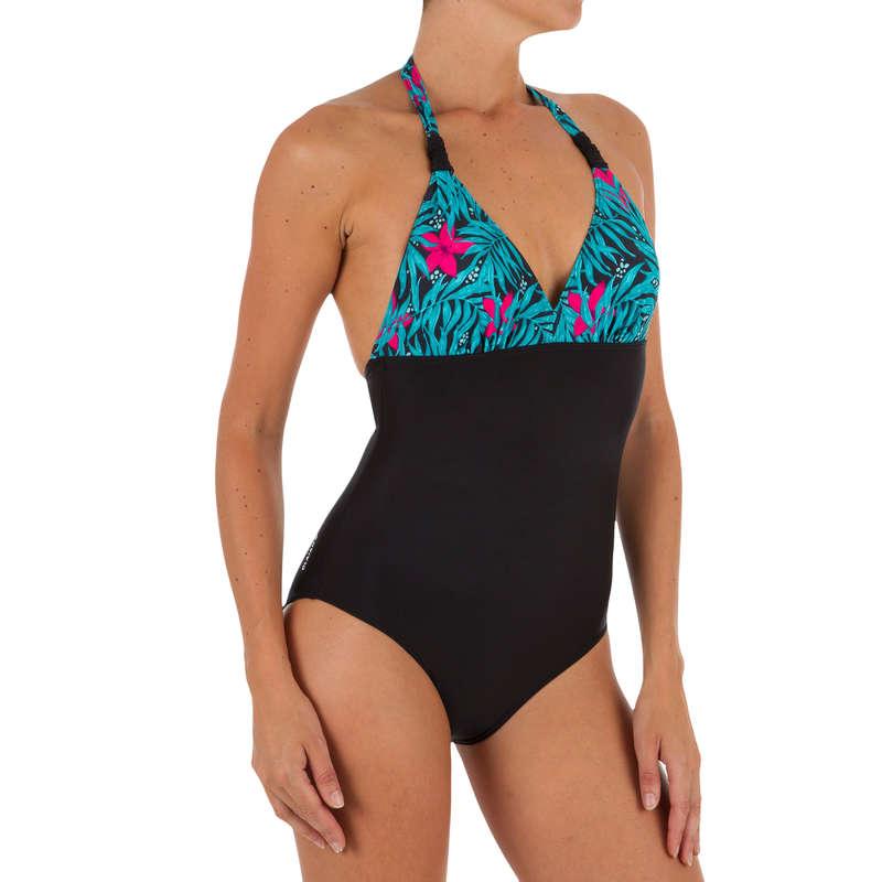 WOMEN BEGINNER SURF SWIMSUIT Surf - Clea 1-Piece - Bali Black OLAIAN - Surf Clothing
