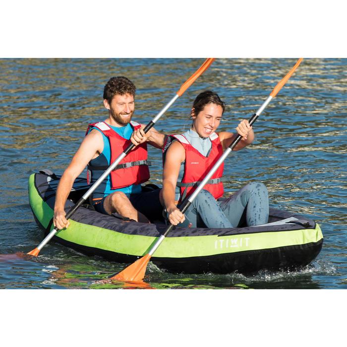 Weste Kajak und Stand up Paddle 500 Damen Neopren 2mm grün