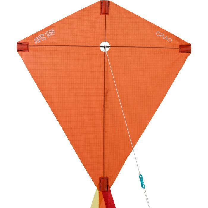 Cometas Monohilo Playa Orao Para Niños MFK 100 Naranja Estática