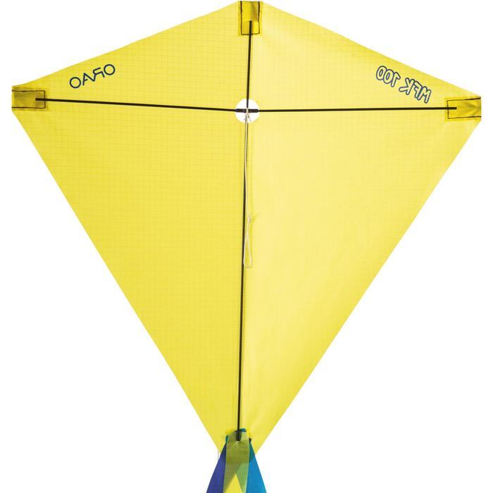 Cometas Monohilo Playa Orao Para Niños MFK 100 Amarillo Estática