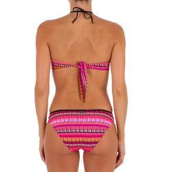 Braga Bikini Surf Ancha Olaian Nina Jazz Mujer Clásica Estampado Rosa Fluor