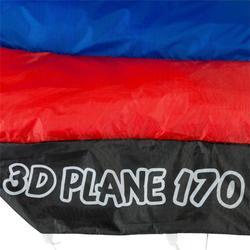 Cometas acrobáticas Playa Orao Para Niño3D PLANE 170 Azul/Rojo/Blanco Avión