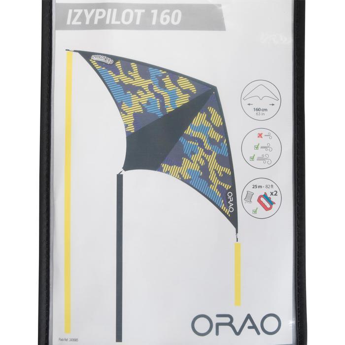Flugdrachen 2-in-1 (statisch und lenkbar) Izypilot 160 gelb