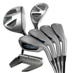 Kit Golf 7 Palos T2 500 Adulto Diestro Acero