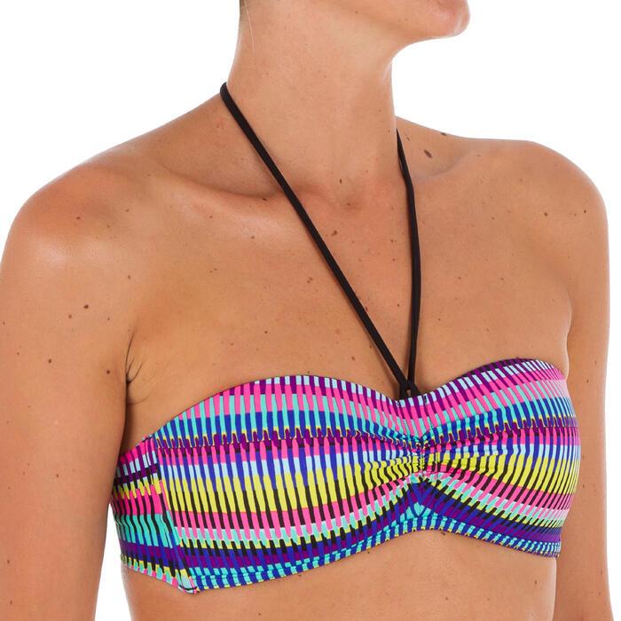 Sujetador de bikini mujer forma banda LAETI JAZZ MULTICO con copas fijas