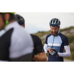 Kurzarm-Radtrikot Rennrad 500 Herren grau/blau