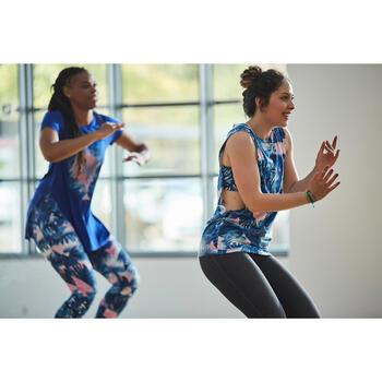 Sujetador-top de tirantes finos danza mujer estampado azul