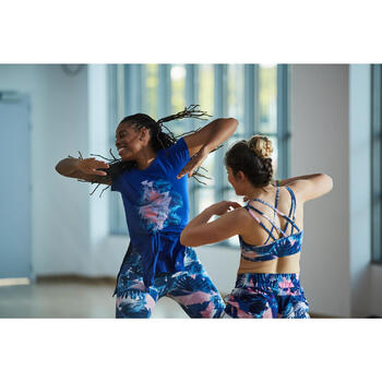 Lange losse danstuniek voor dames blauw