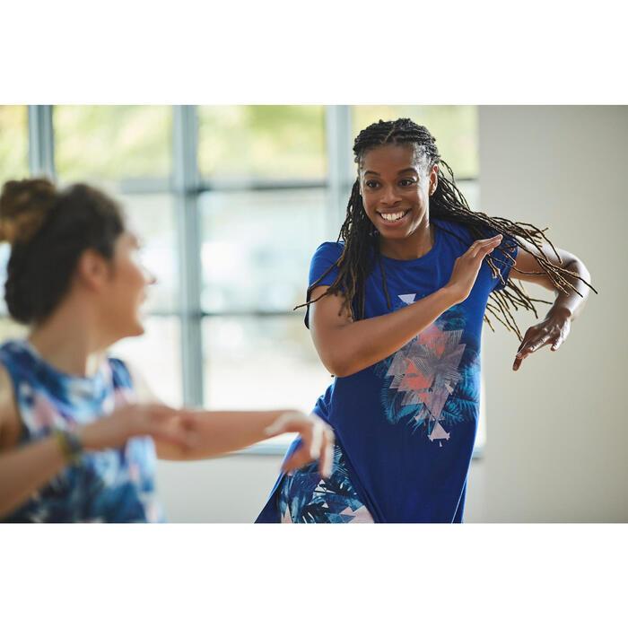 Camiseta sin mangas de danza mujer azul