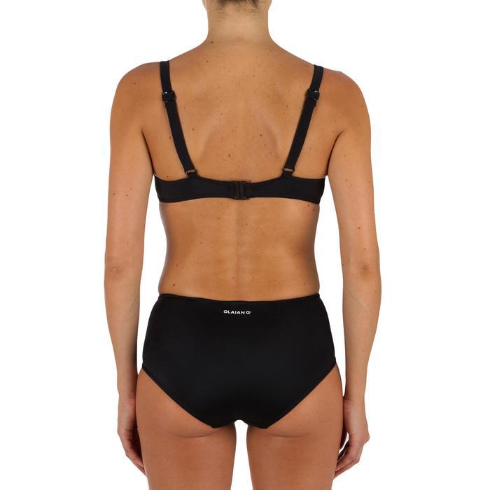 Bas de maillot de bain de surf femme taille haute ROMI NOIRE - 1304926