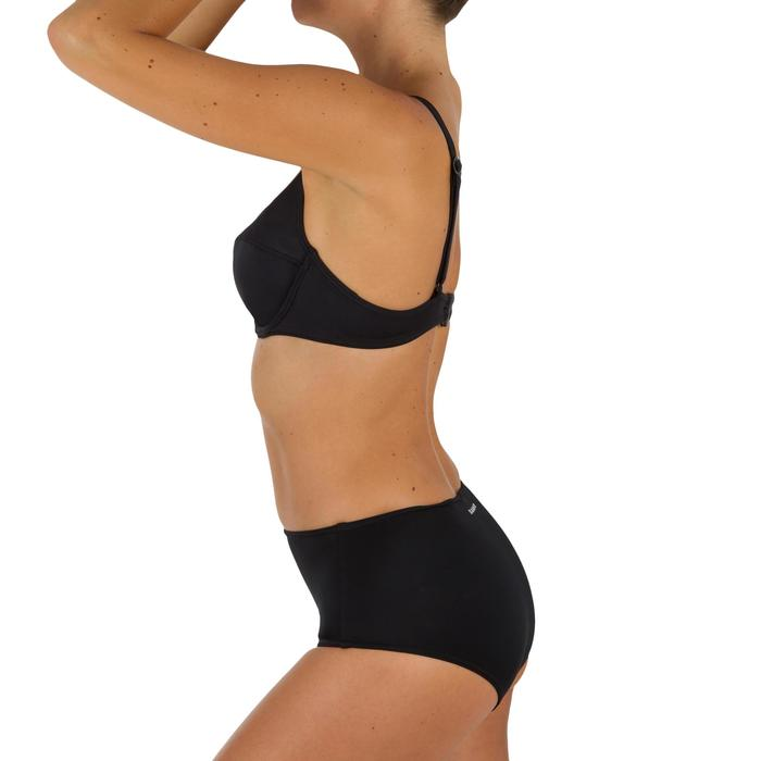 Bas de maillot de bain de surf femme taille haute ROMI NOIRE - 1304927