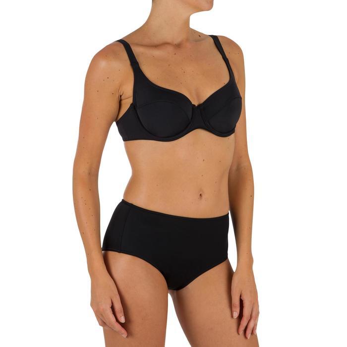 Bas de maillot de bain de surf femme taille haute ROMI NOIRE - 1304928