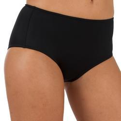 Bikinibroekje met hoge taille voor surfen Romi zwart