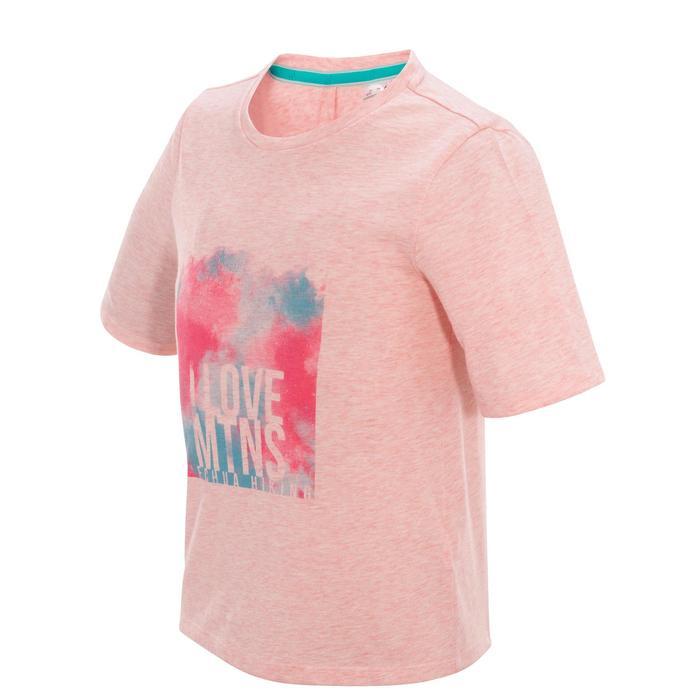 Wandershirt Hike 500 Kinder Mädchen rosa