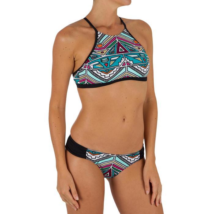 Bas de maillot de bain de surf femme plissée côté NIKI - 1305053