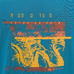 Camiseta Manga Corta de Montaña y Senderismo Quechua NH500 Hombre Azul