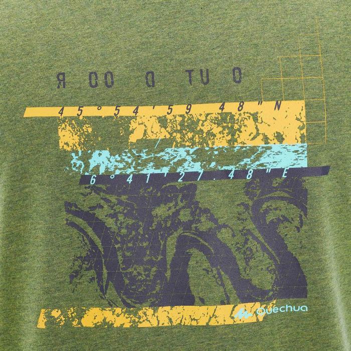 T-shirt wandelen in de natuur NH500 kaki heren