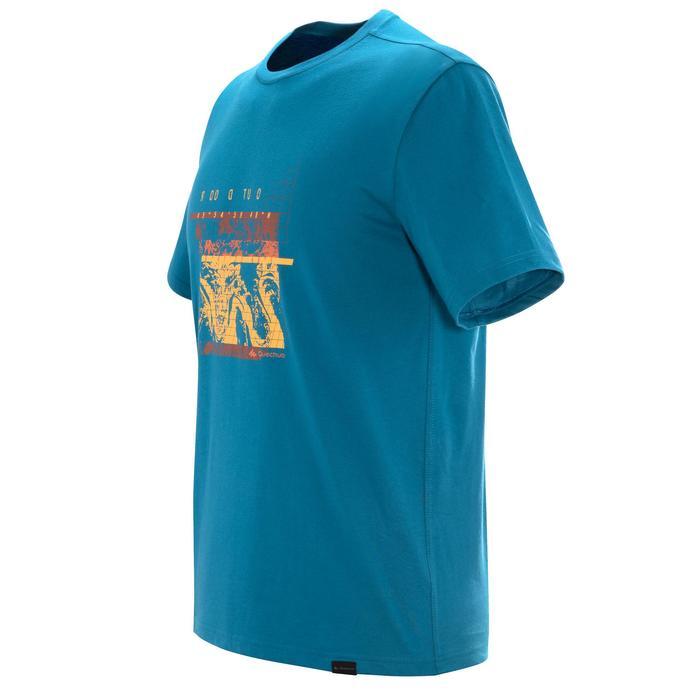 Tee shirt randonnée nature homme NH500 bleu