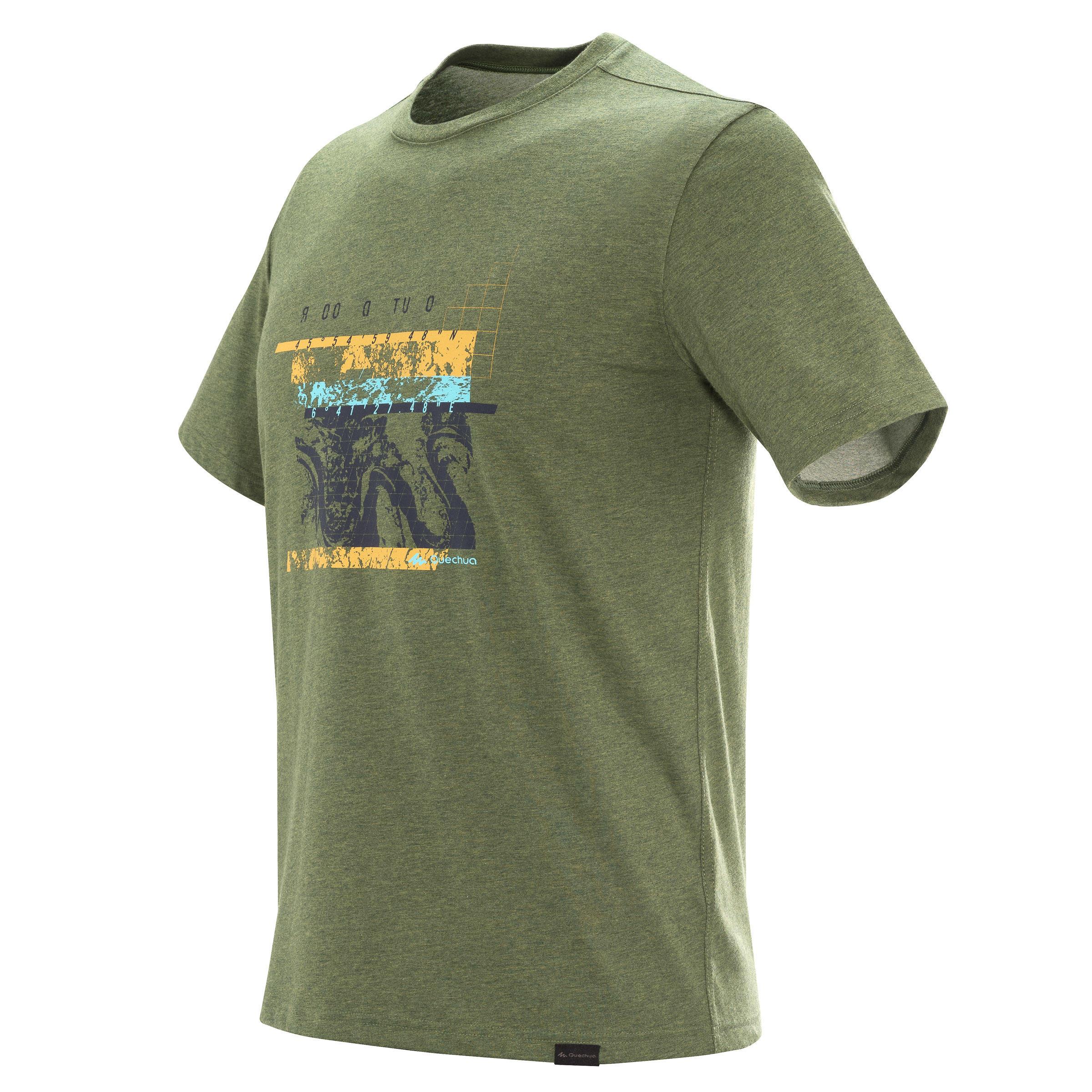 NH500 Men's Country Walking T-shirt - Khaki