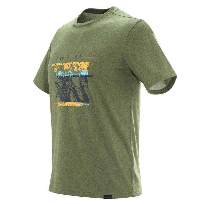 Heren T-shirt voor natuurwandelen NH500 kaki
